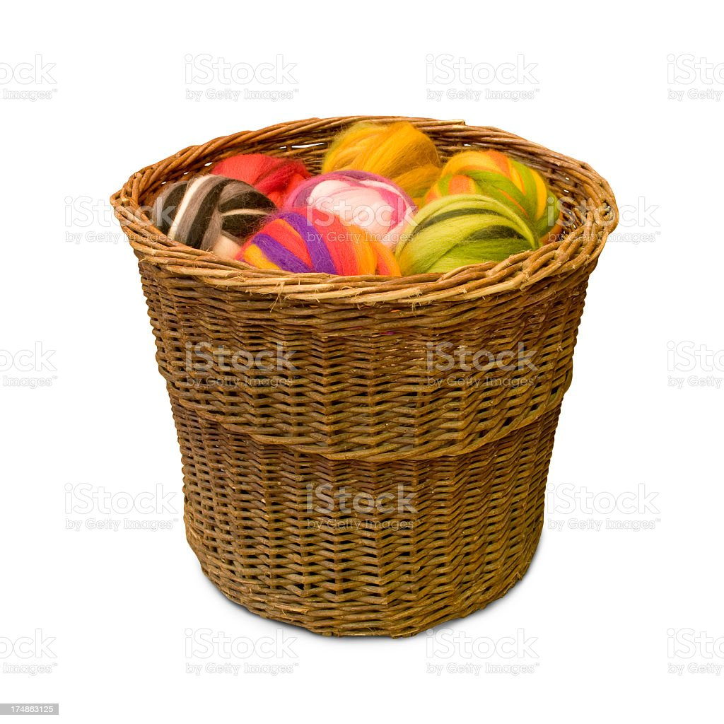 Colored wool stock photo
