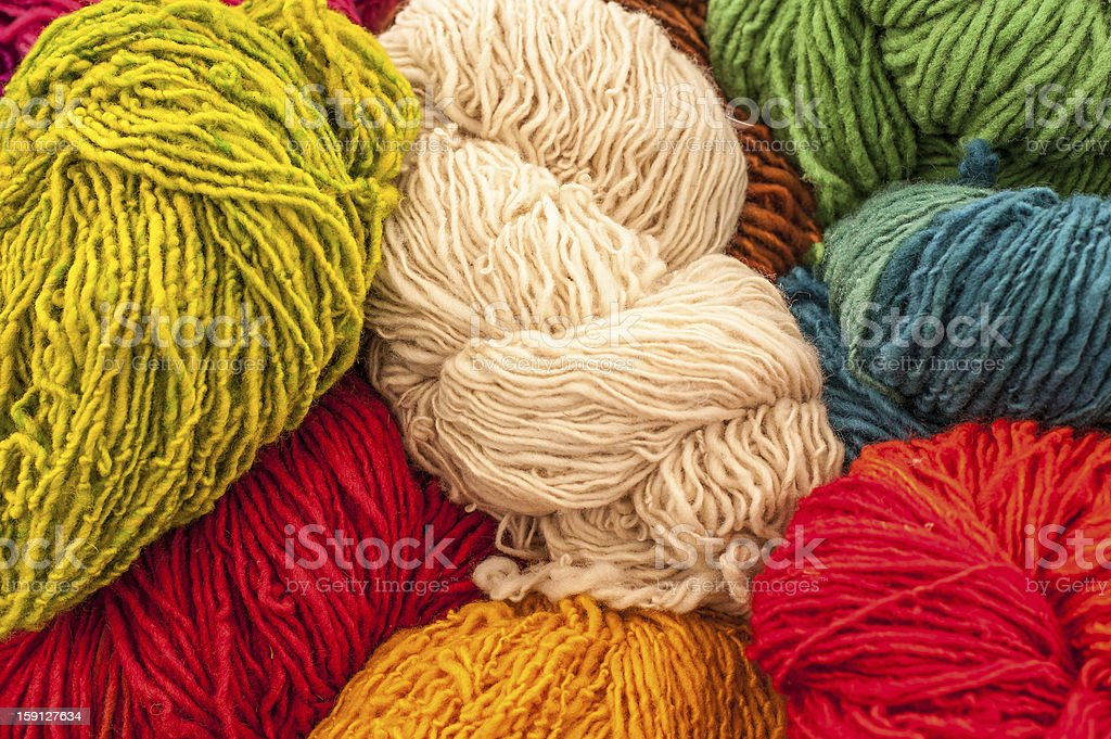 Colored Wools royalty-free stock photo