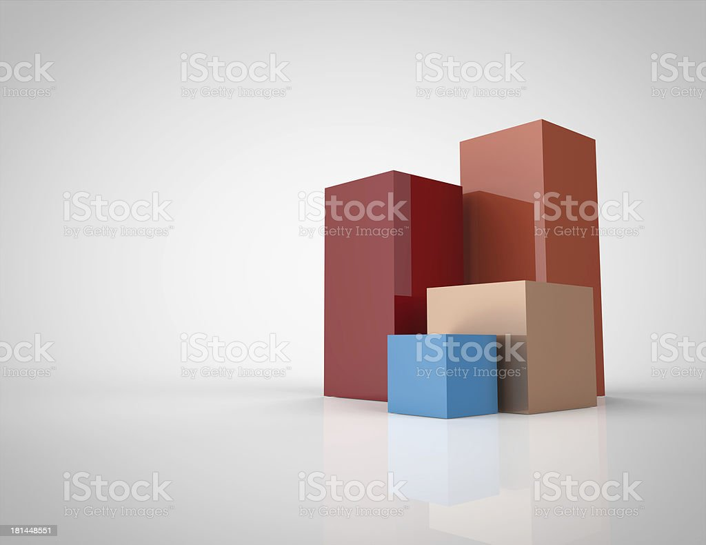 colorful 3d cubes royalty-free stock photo
