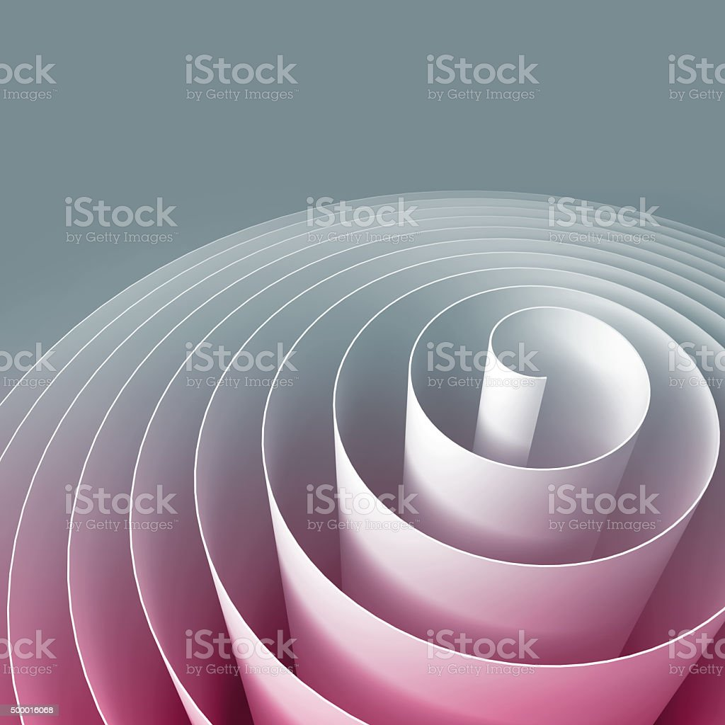 Colorful 3d spiral, abstract digital illustration, background stock photo