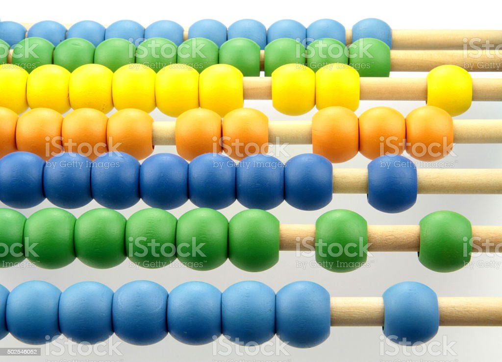 Colorful abacus beads stock photo