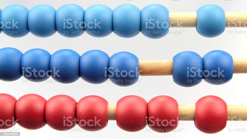 Colorful abacus, macro image. stock photo