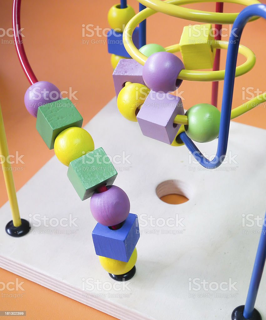 colorful abacus royalty-free stock photo
