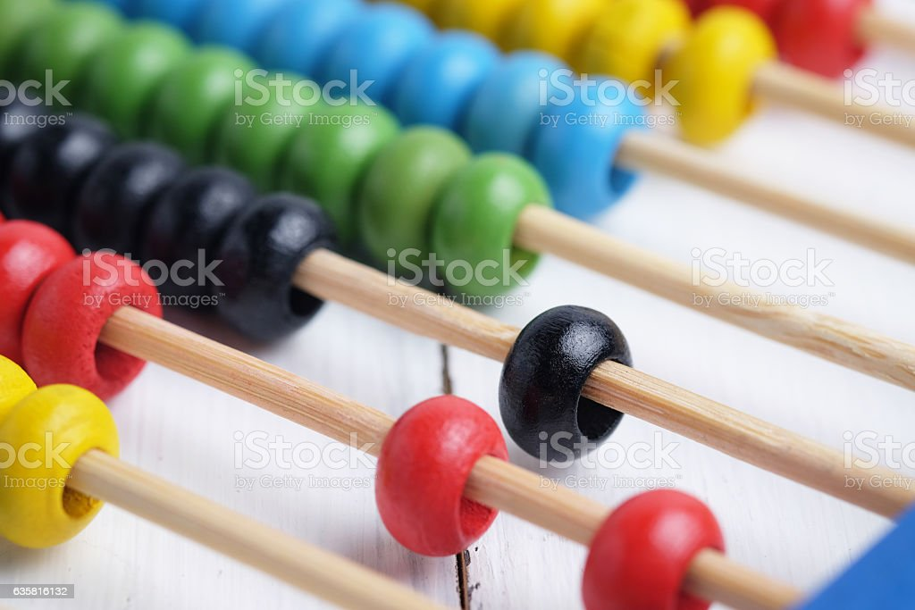 Colorful abacus. stock photo