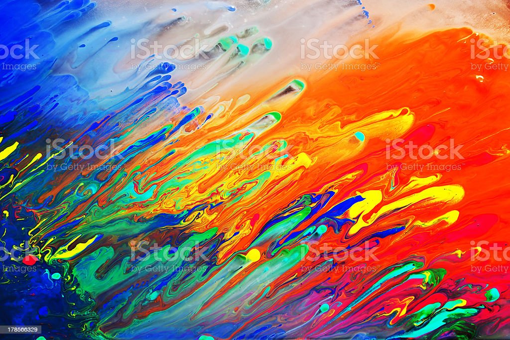 Colorful abstract acrylic painting royalty-free stock photo