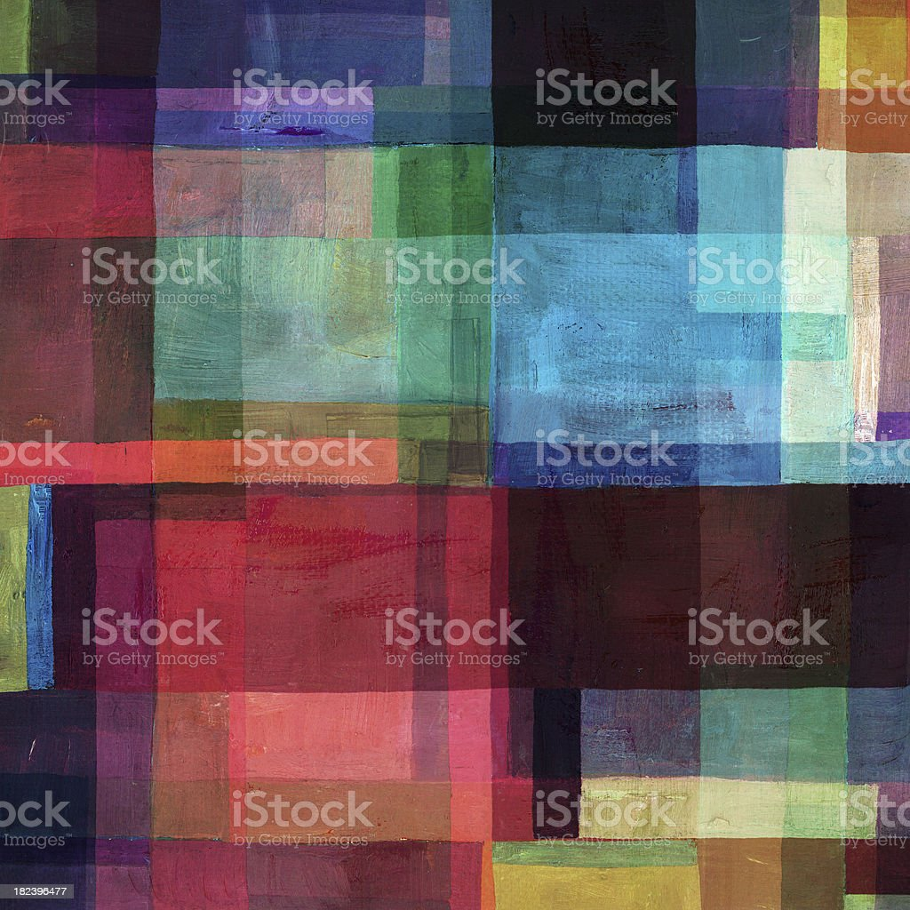 Colorful Abstract Block Composition royalty-free stock photo