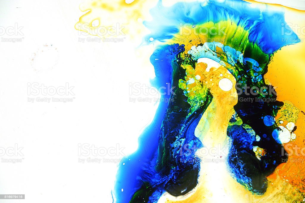 Colorful abstract fluid painting stock photo