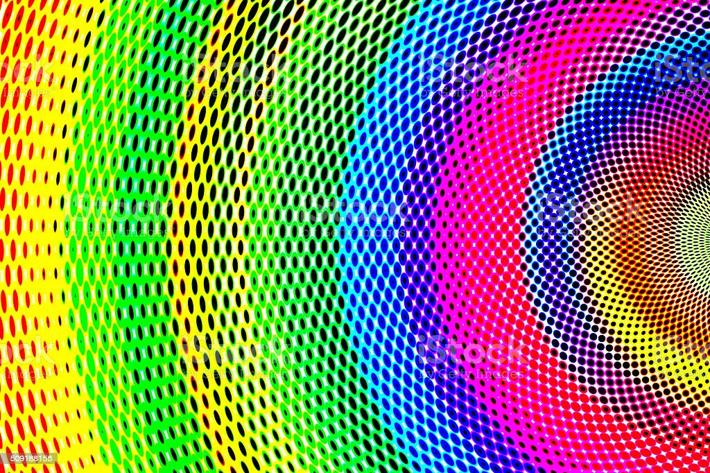 Colorful Abstract Halftone Background with Rainbow Colors vector art illustration
