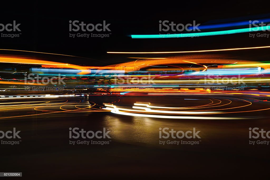 Colorful Abstract Light Trails stock photo
