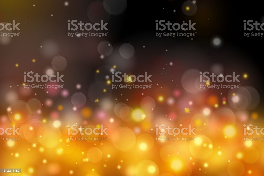 colorful abstract orange bokeh light background stock photo