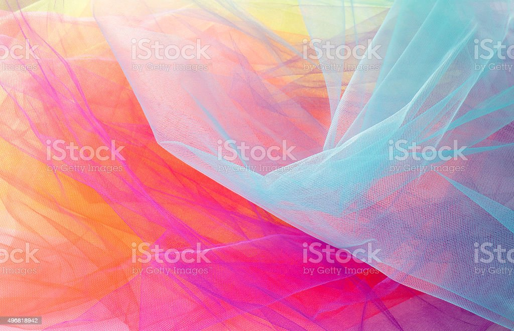 Colorful Abstract Tulle Background and Textures stock photo