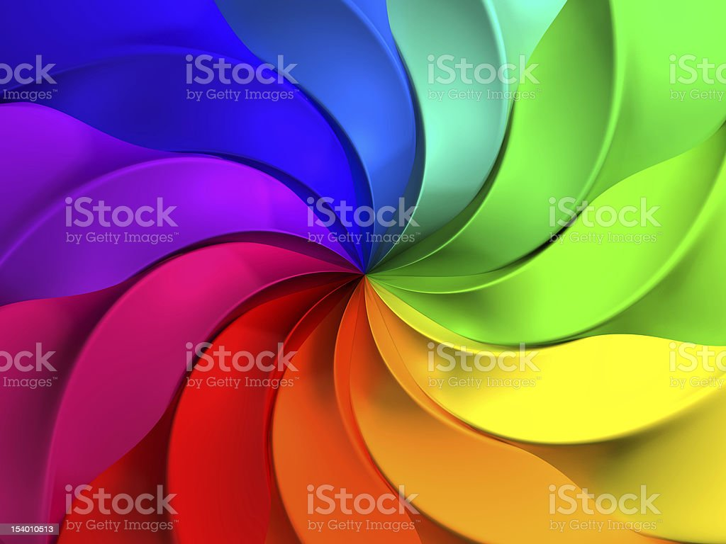 Colorful abstract windmill pattern background stock photo