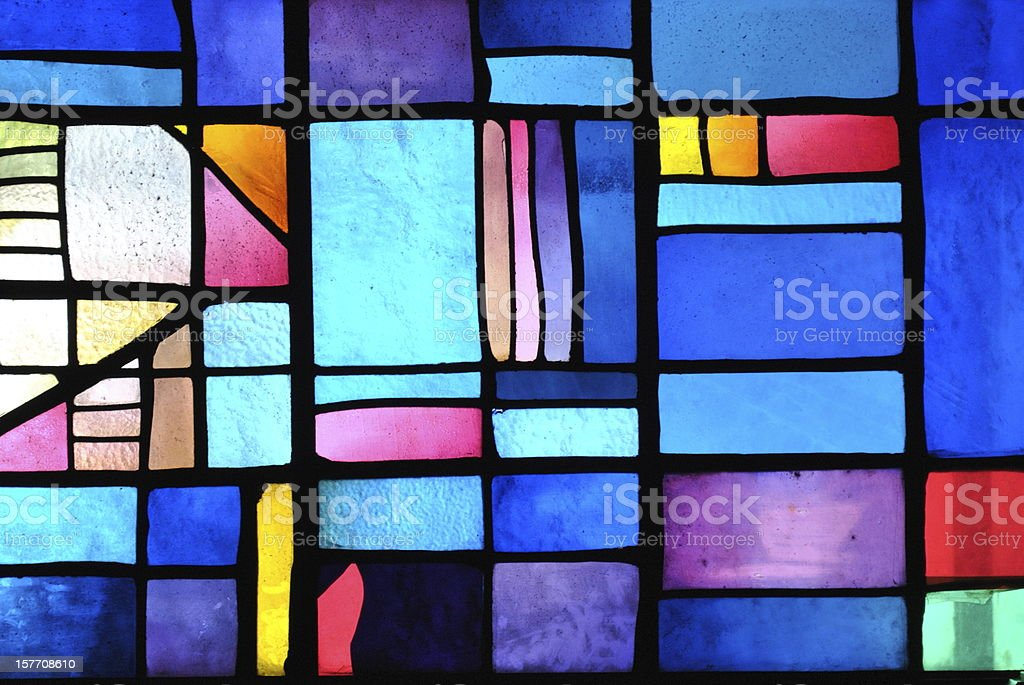 Colorful acrylic sample on a window stock photo
