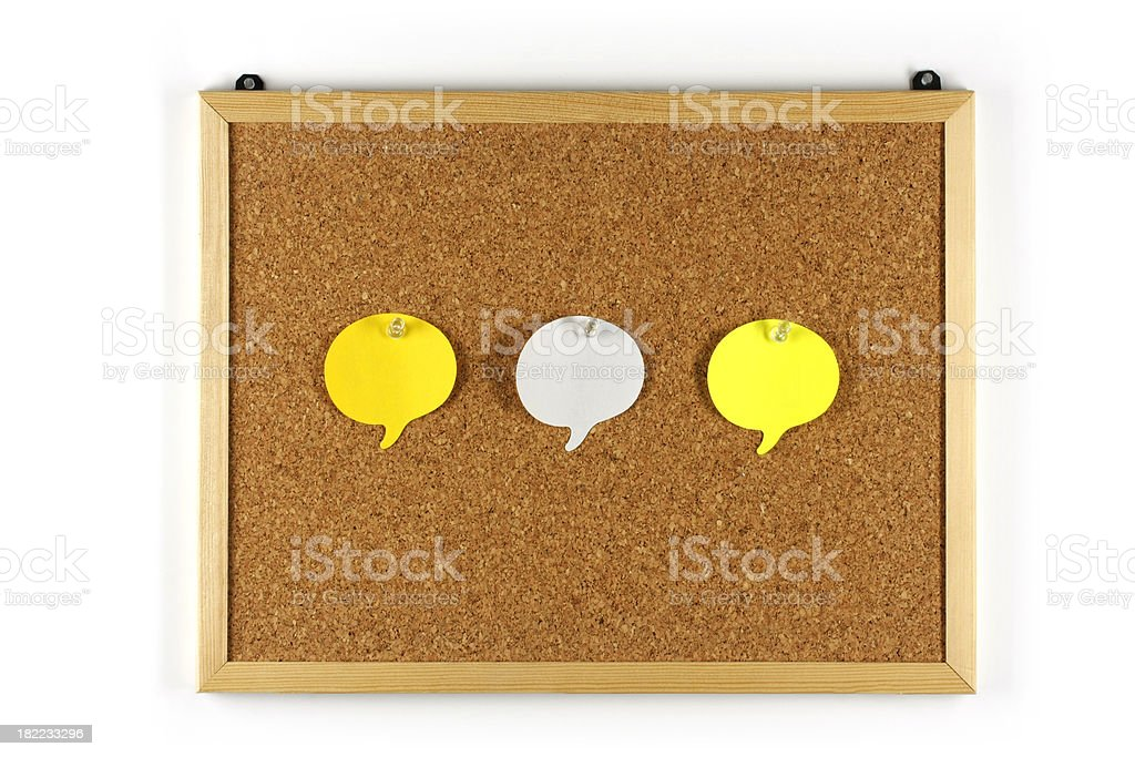 colorful adhesive notes on cork board royalty-free stock photo