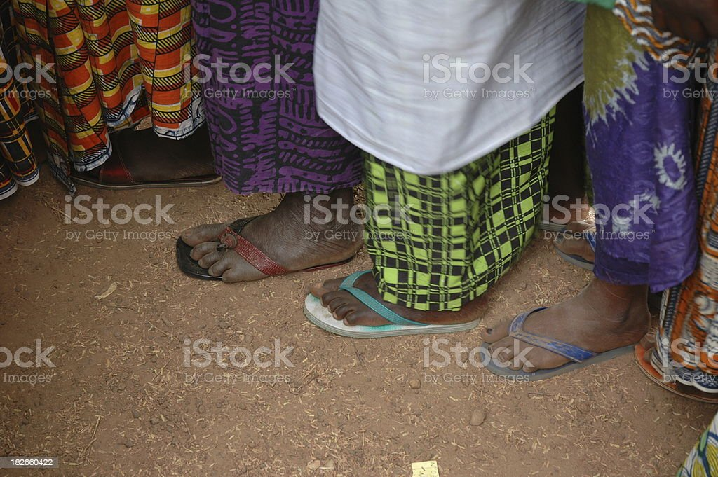 Colorful African Feet royalty-free stock photo