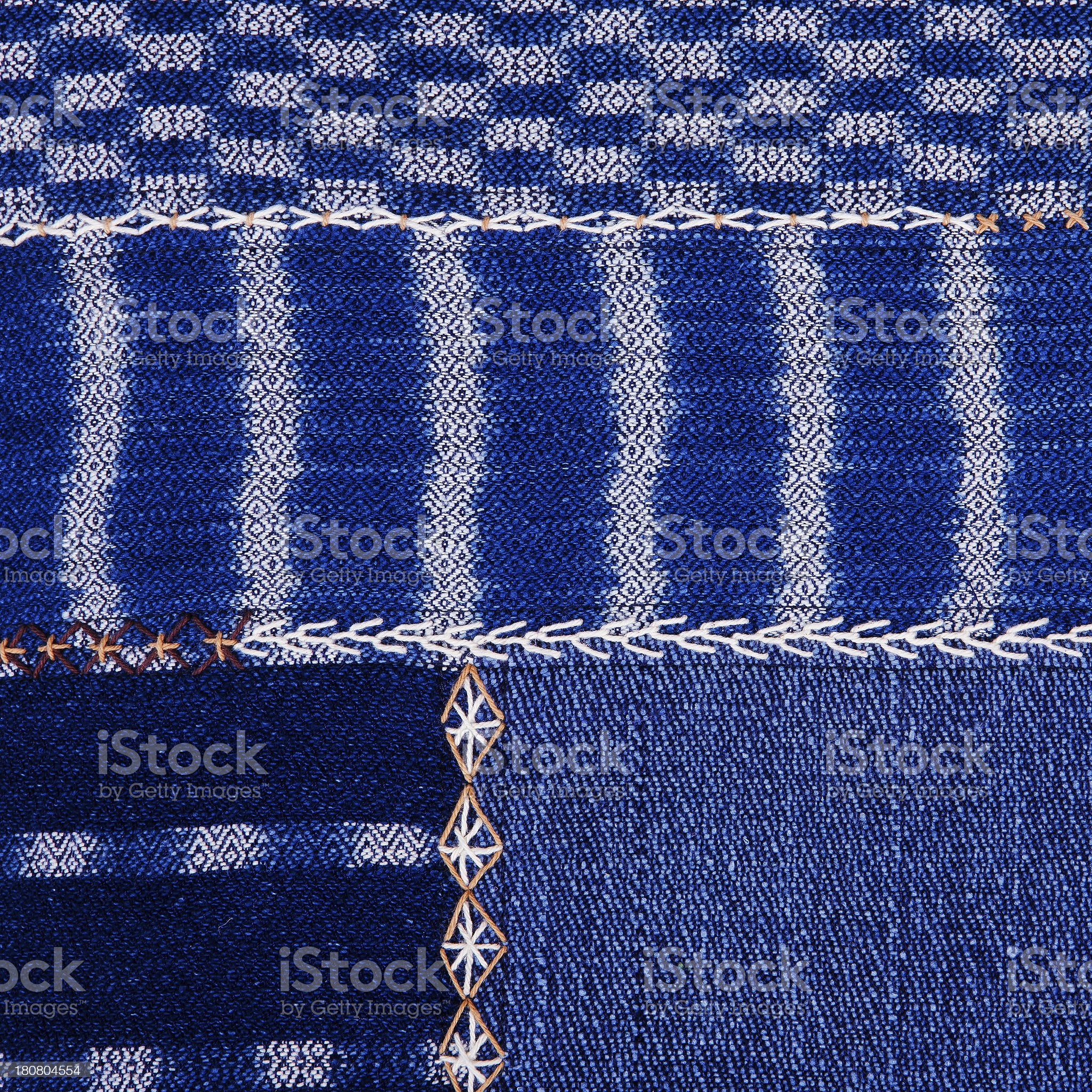 Colorful african peruvian style rug surface close up royalty-free stock photo