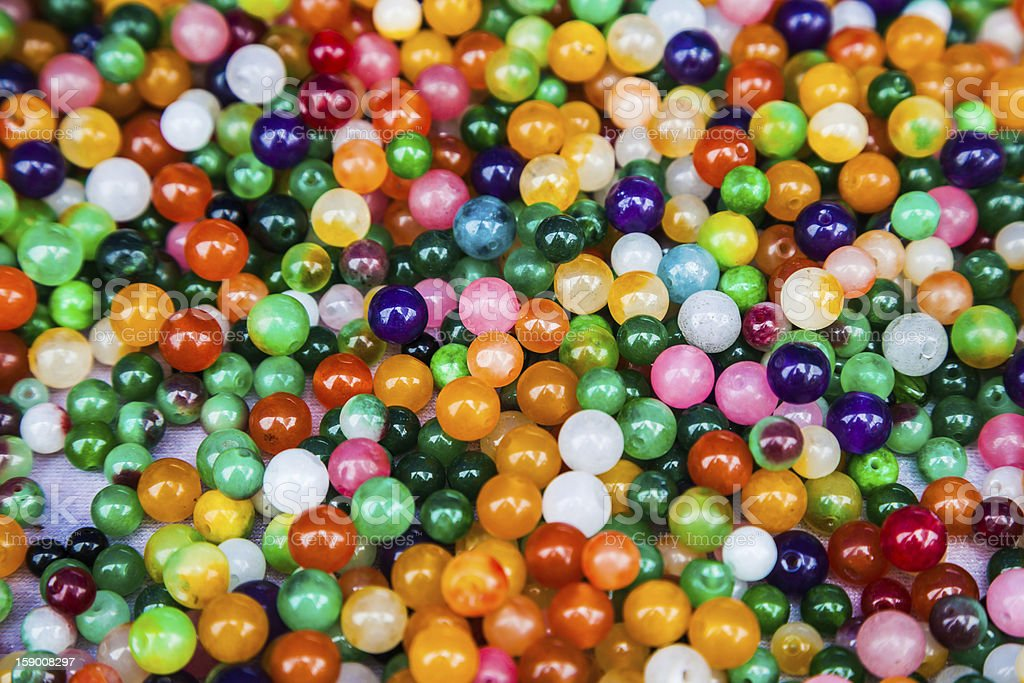 colorful agate beads background stock photo