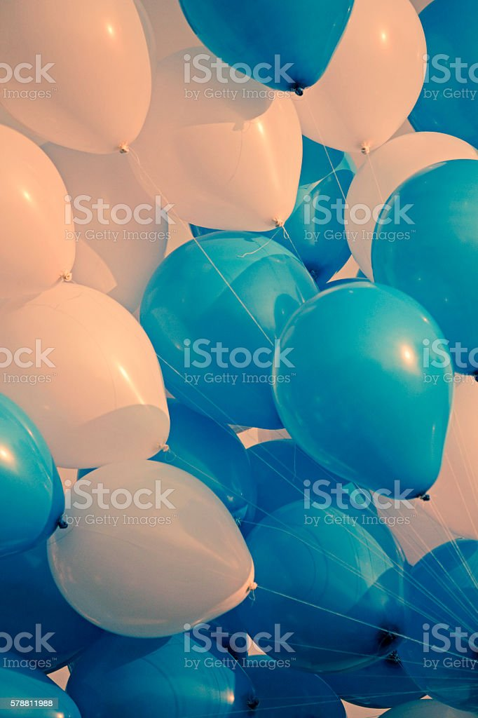 Colorful Air Balloons in air stock photo