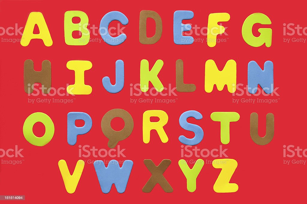 colorful alphabet A-Z royalty-free stock photo
