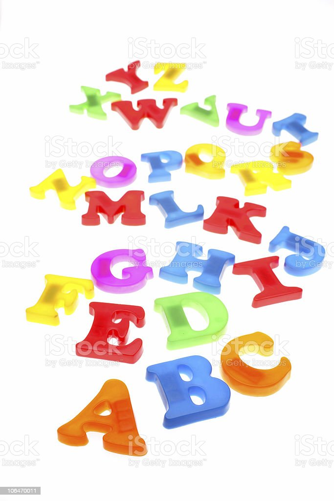 Colorful alphabet letters royalty-free stock photo