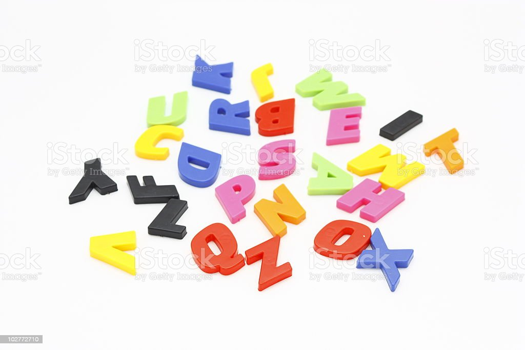 Colorful Alphabet royalty-free stock photo