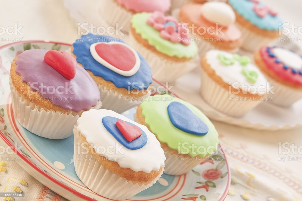 Colorful and decorative cakes. Home cooking. royalty-free stock photo