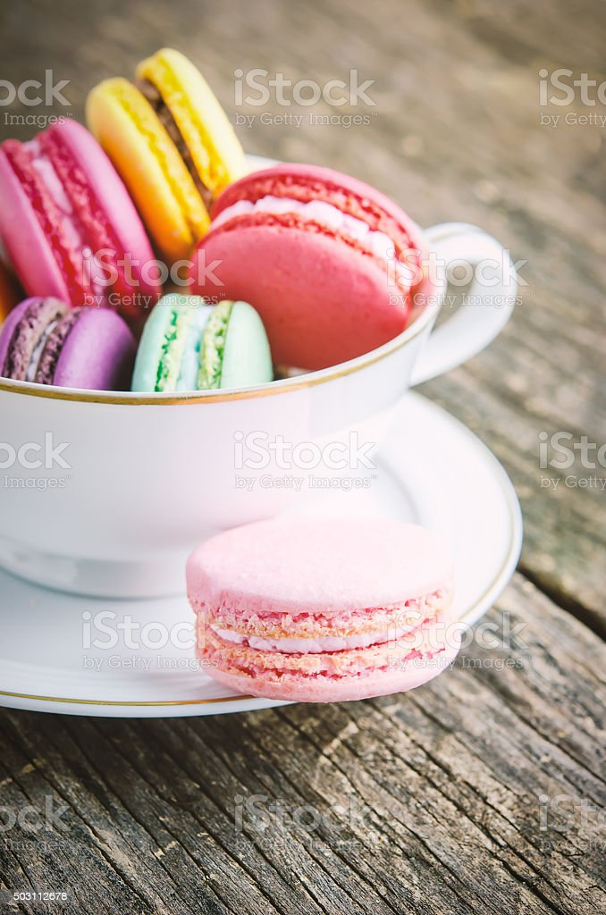 Colorful and pastel Macaroons stock photo