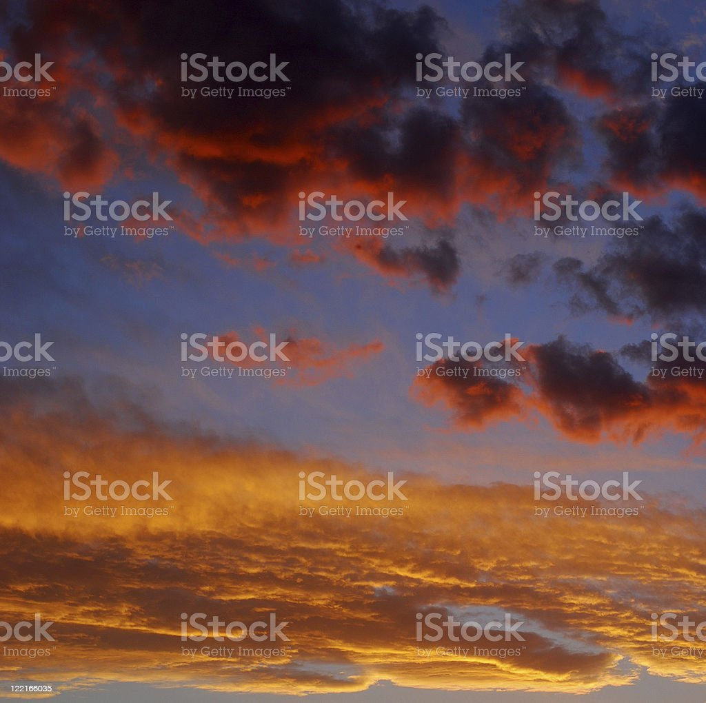 Colorful Angry Storm Clouds royalty-free stock photo