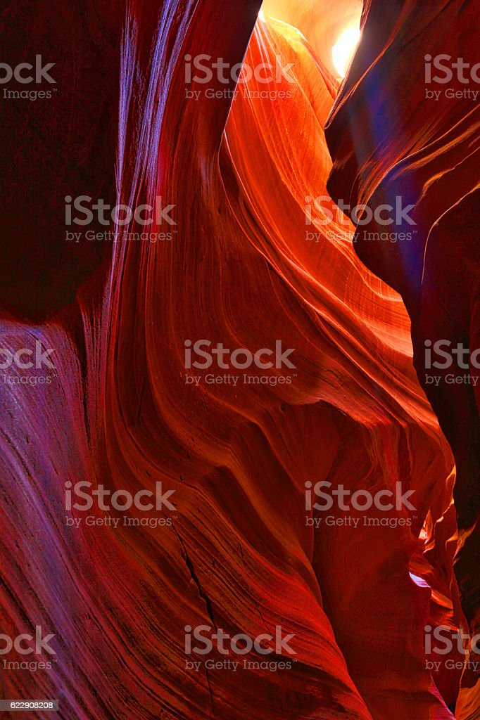 Colorful Antelope Canyon stock photo