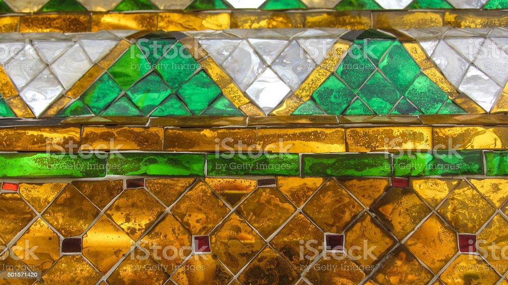 Colorido mosaico antigo foto de stock royalty-free