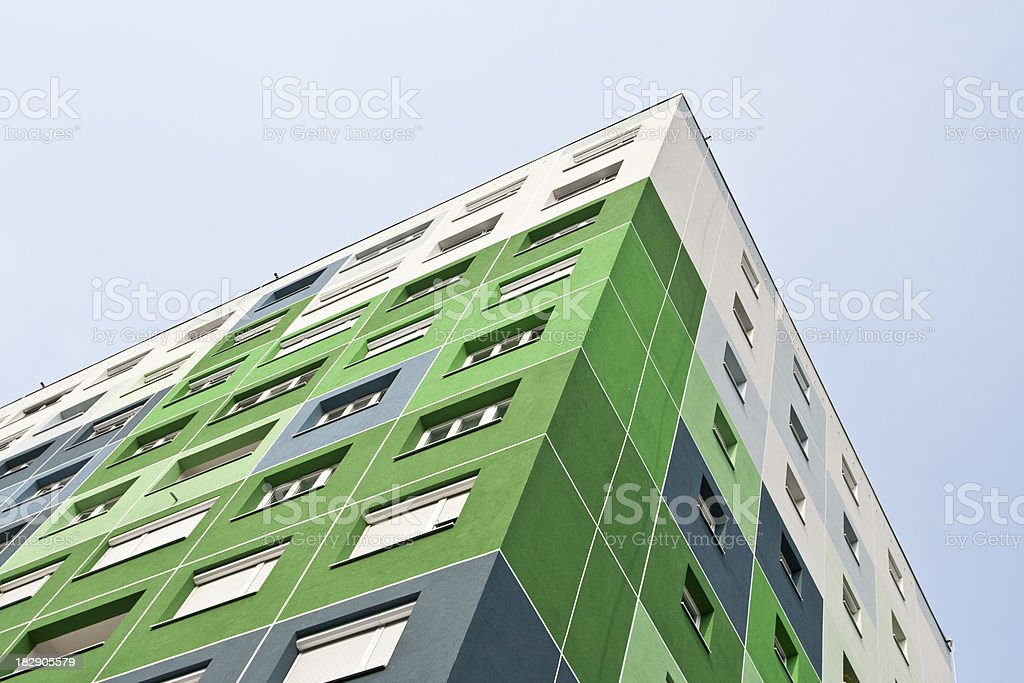 Colorful apartment building royalty-free stock photo