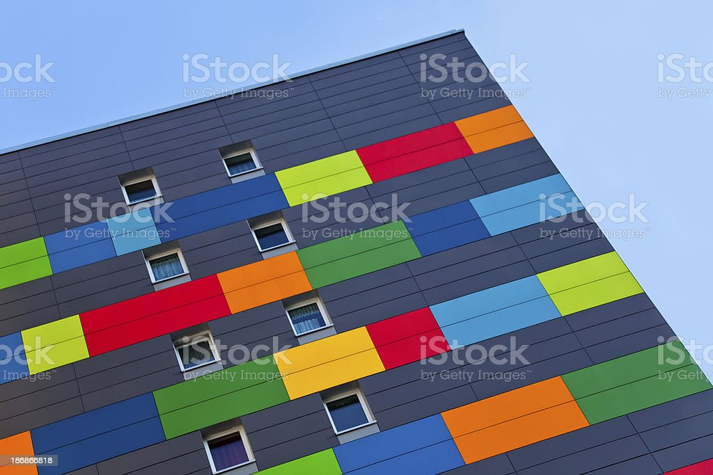 colorful appartment building royalty-free stock photo