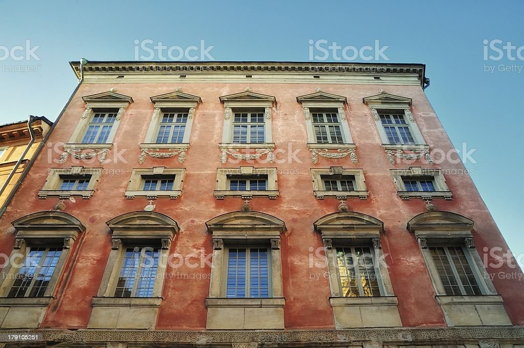 Colorful Architecture, Stockholm stock photo