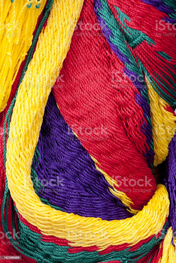 Colorful Arrangement of Hammocks, Abstract Pattern royalty-free stock photo