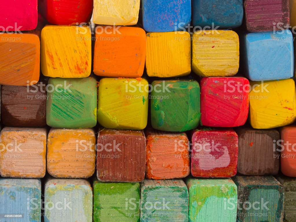 colorful artistic pastels stock photo