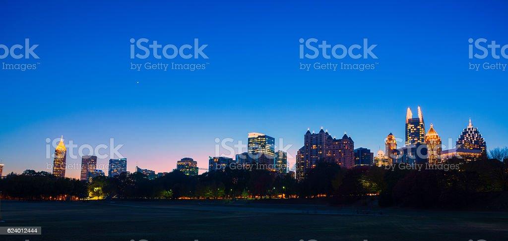 colorful Atlanta skyline stock photo