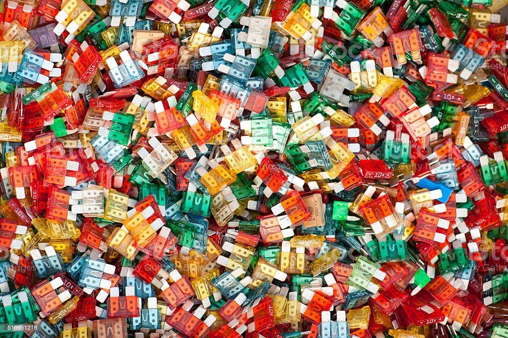 Colorful Auto Fuse stock photo