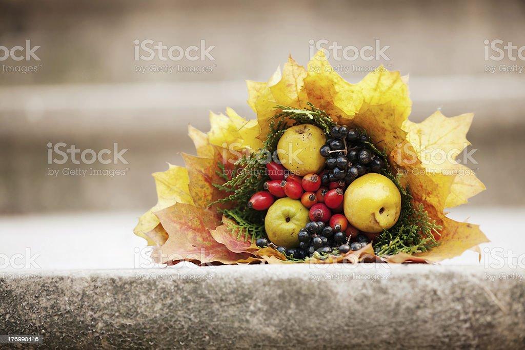 colorful autumn bouquet closeup royalty-free stock photo