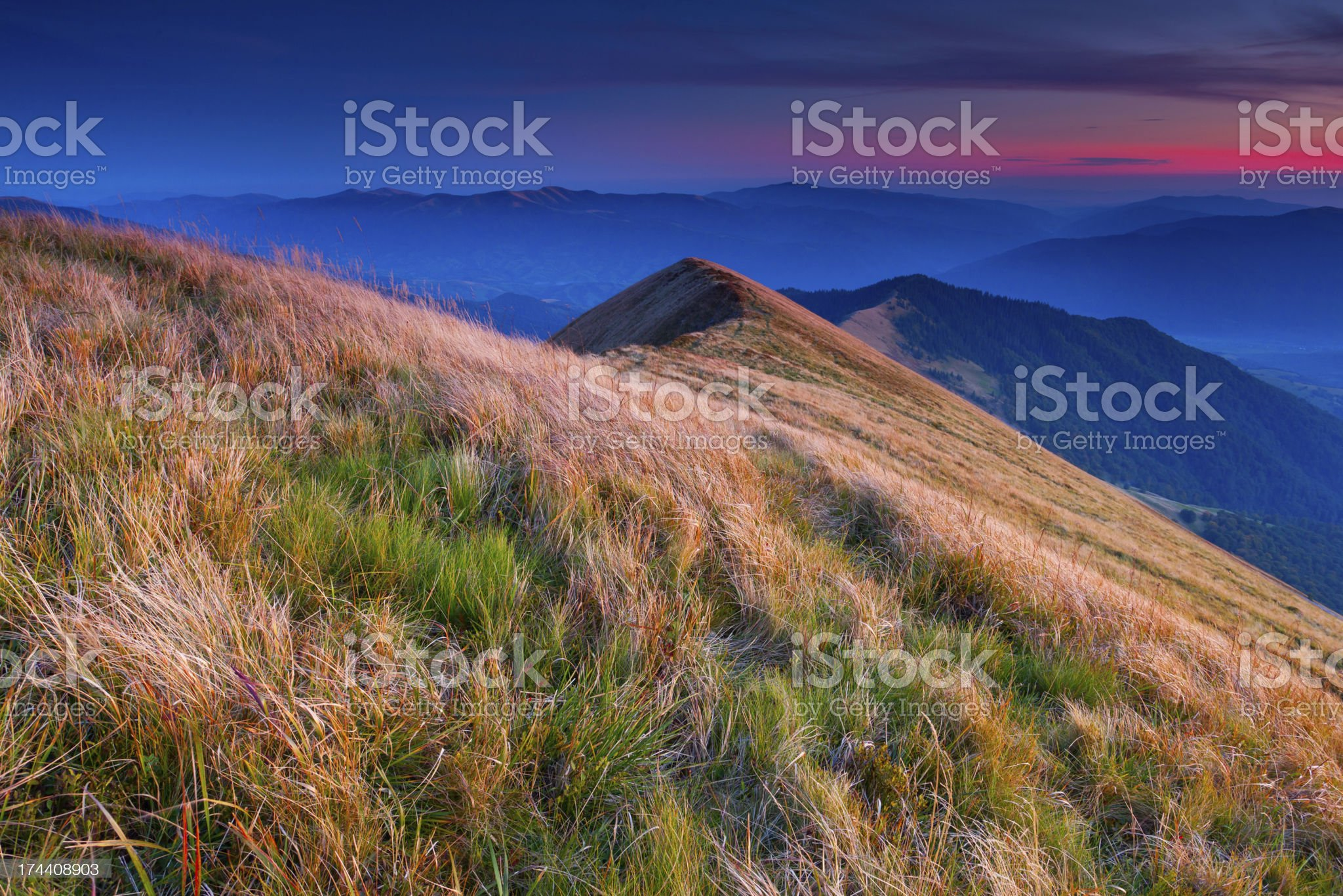 Colorful autumn landscape in the mountains royalty-free stock photo