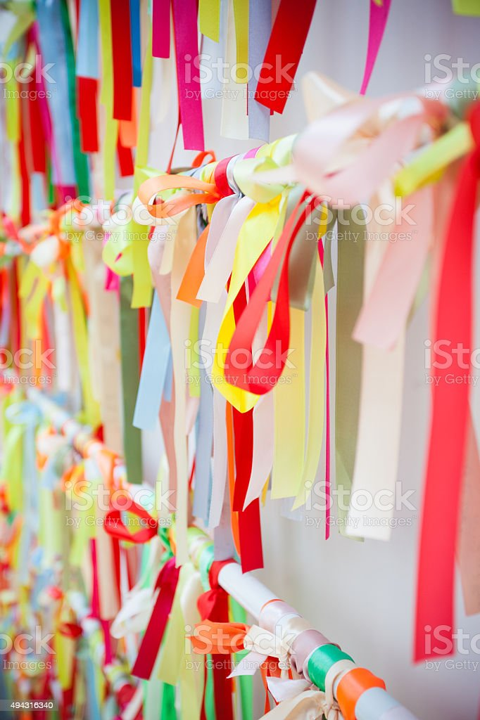 Colorful Awareness Ribbons stock photo