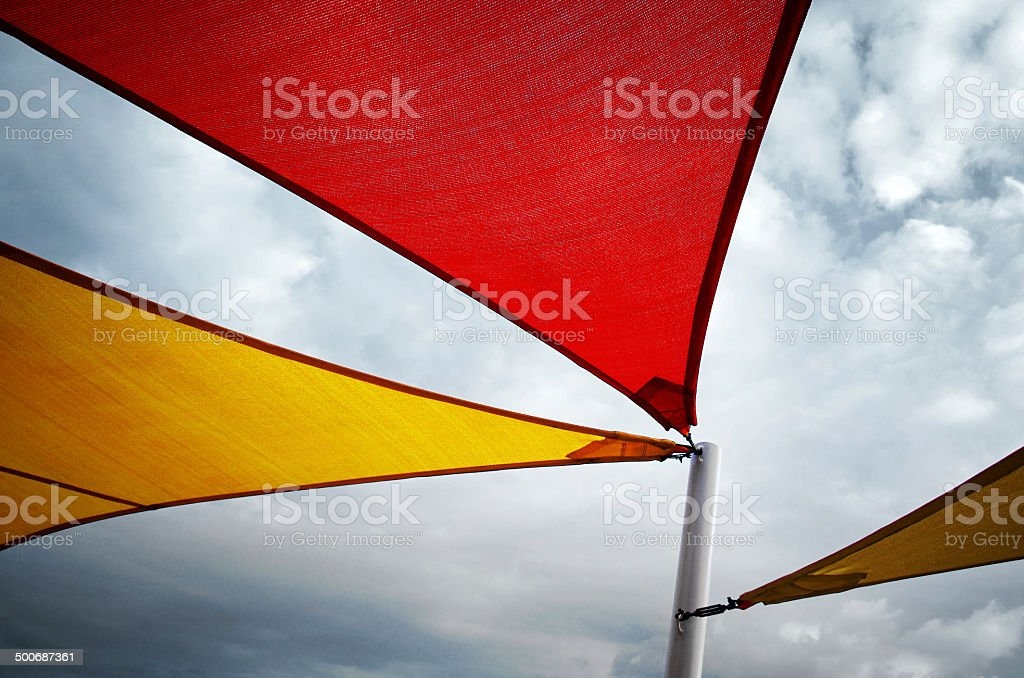 Colorful Awnings stock photo