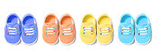 Colorful Baby Canvas Shoes