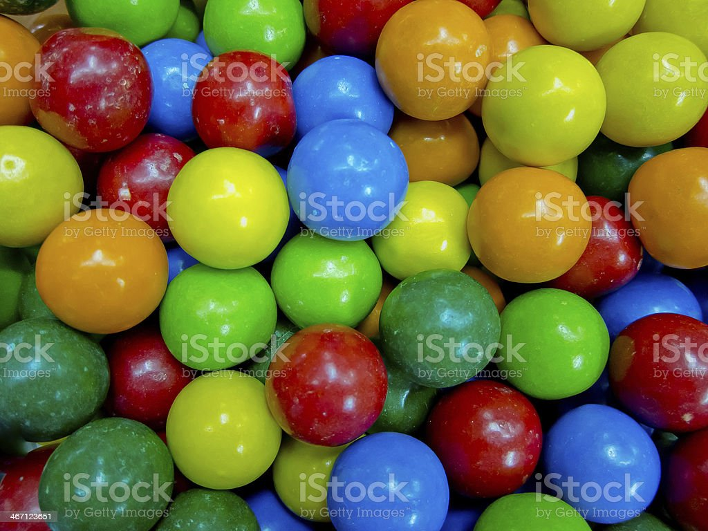 Colorful background of assorted Gumballs royalty-free stock photo