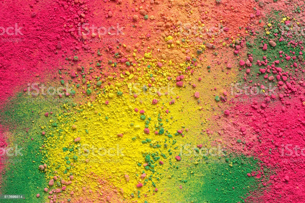 Colorful background of chalk powder stock photo