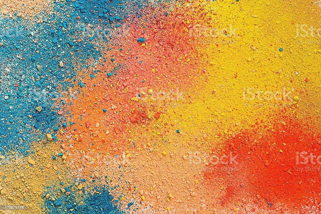 Colorful background of pastel powder stock photo