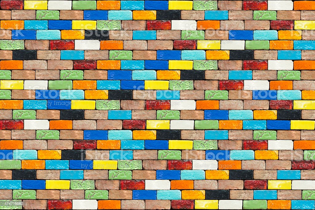 Colorful background with brick walls royalty-free stock photo