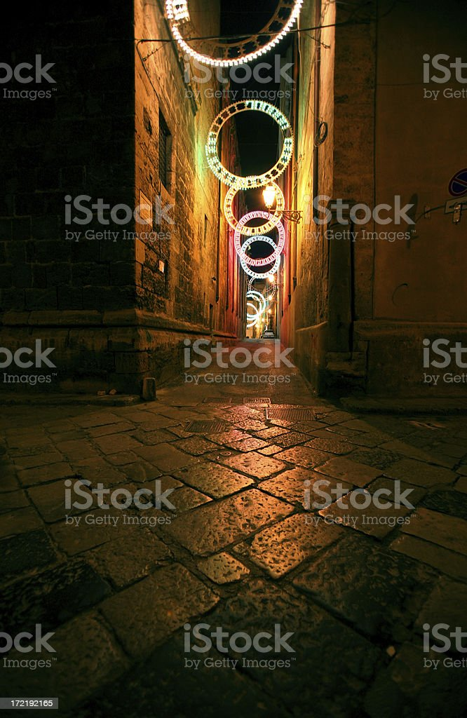 colorful backstreet royalty-free stock photo