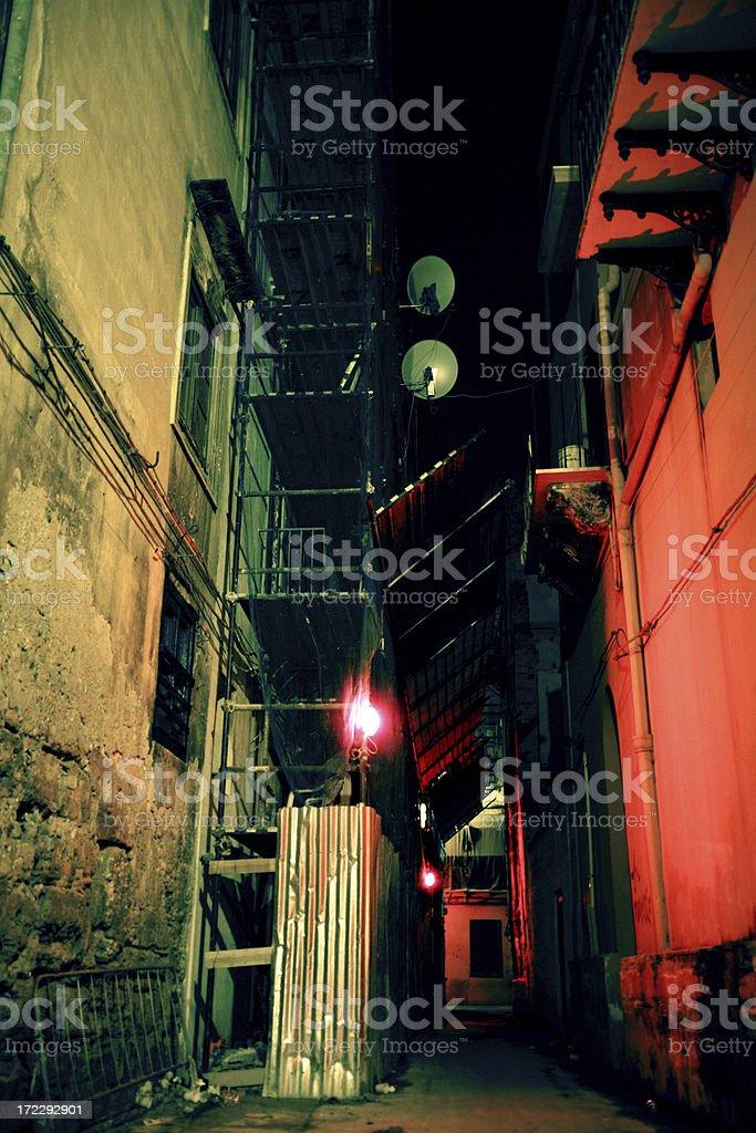 colorful backstreet royalty-free stock photo