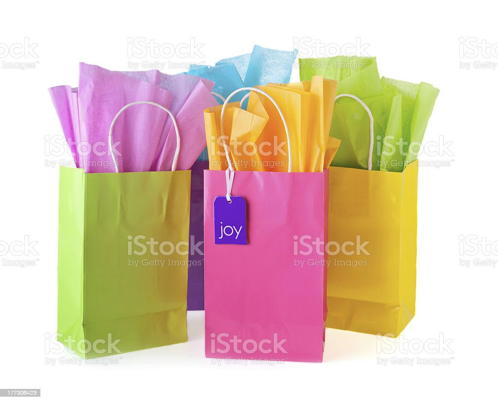 Colorful bags stock photo
