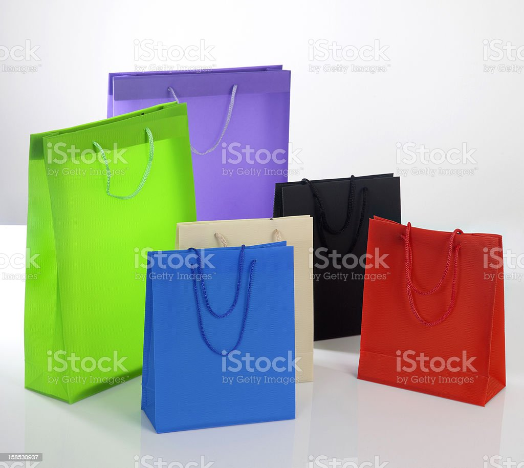 Colorful bags XXL royalty-free stock photo